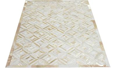 Leonique Lederteppich »Faris«, rechteckig, 8 mm Höhe, echt Leder, Wohnzimmer kaufen