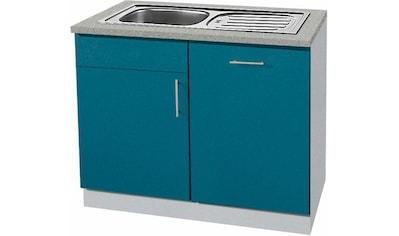 wiho Küchen Spülenschrank »Kiel«, 110 cm breit, inkl. Tür/Griff/Sockel für Geschirrspüler kaufen