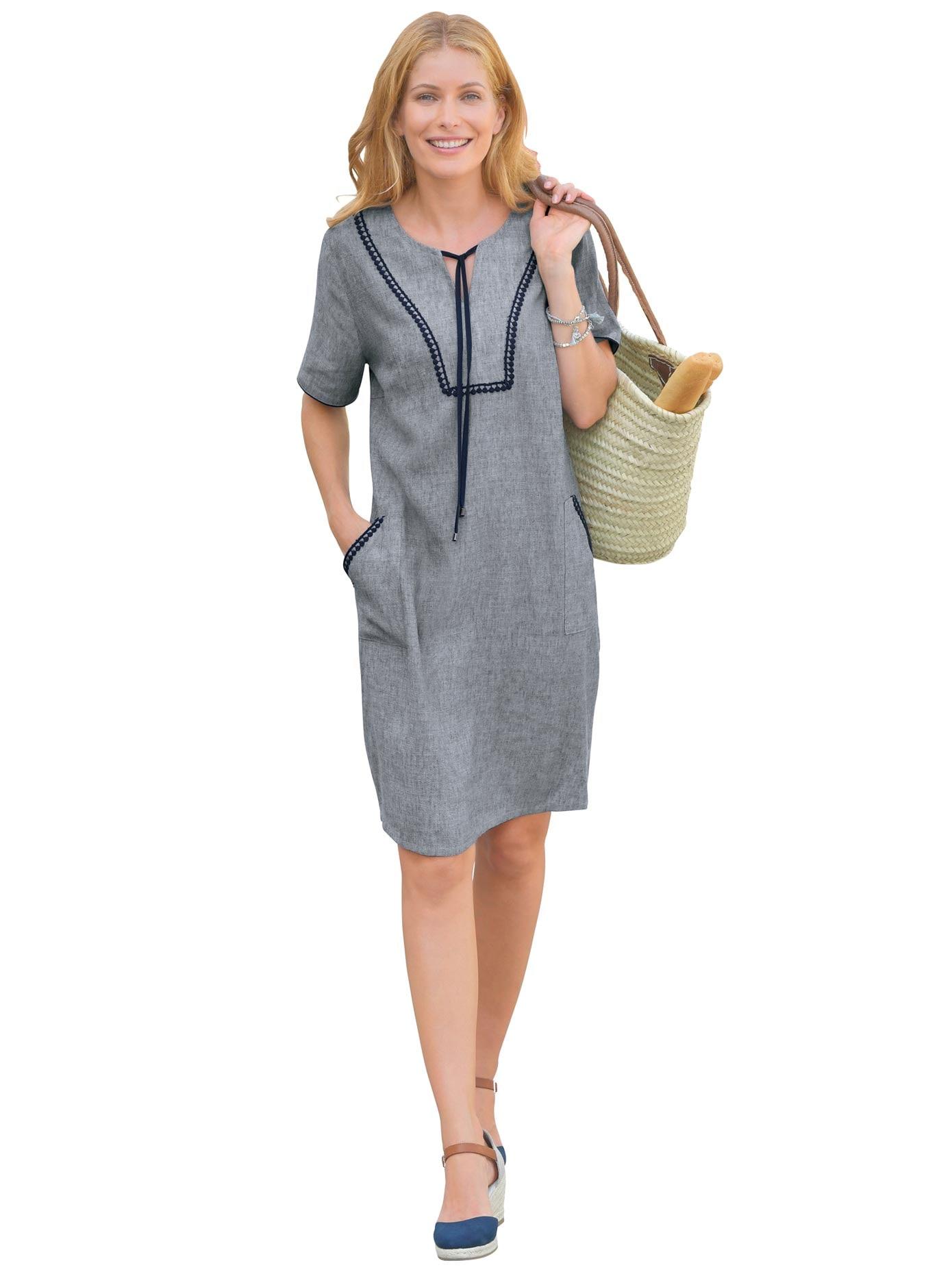 Classic Inspirationen Kleid in pflegeleichter Leinenmischung