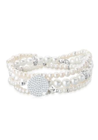 Elli Perlenarmband Set »Layering Perle Swarovski® Kristalle 925 Silber« kaufen