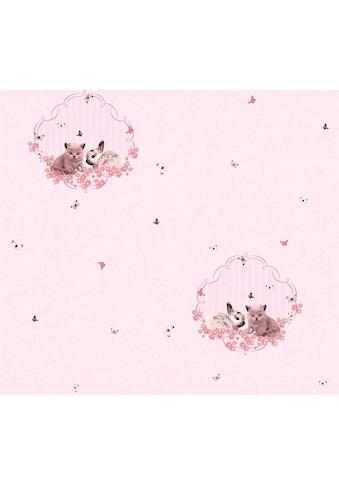 living walls Vliestapete »Little Stars«, Kinderzimmertapete mit niedlichen Hasen und... kaufen