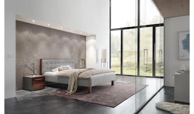 HASENA Polsterbett »Noah«, Fußfarbe Nussbaum, Komforthöhe, Fußhöhe 25 cm kaufen