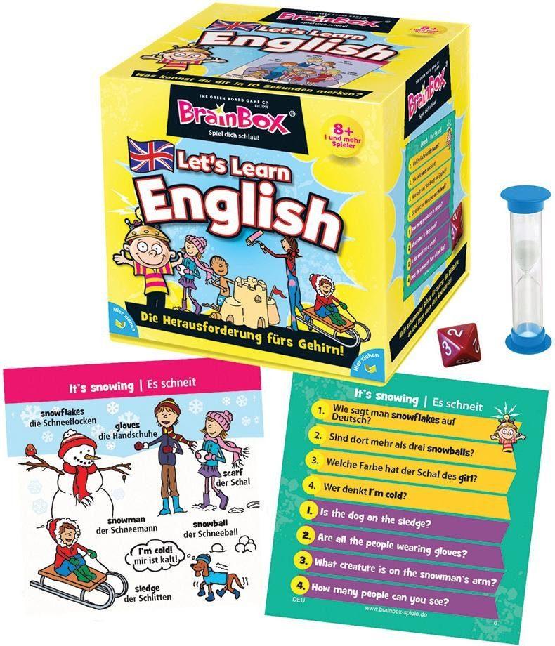 Spiel, Lernspiel BrainBox, Let's Learn English bunt Kinder Ab 6-8 Jahren Altersempfehlung Spiele