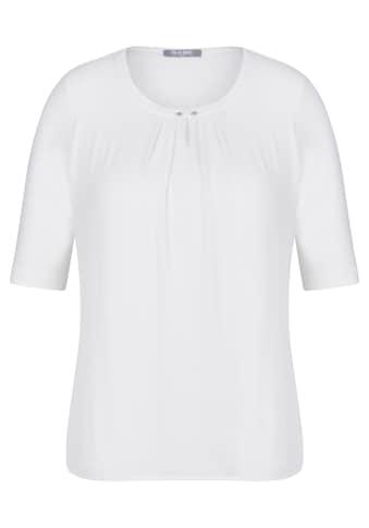 Rabe T - Shirt mit Raffungen und Zierperlen kaufen