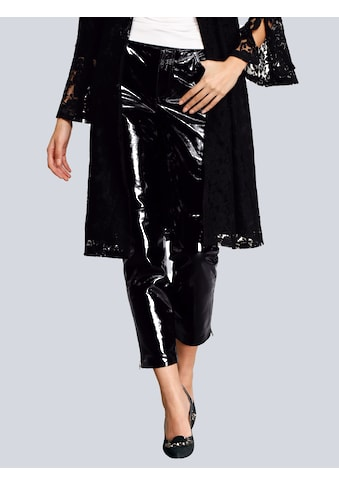 Alba Moda Lack - Lederhose in modischer Form kaufen