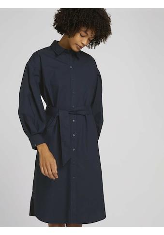 TOM TAILOR mine to five Blusenkleid »Hemdkleid mit Falten« kaufen