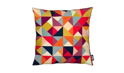 Dekokissen, »Bright Geometric Happy Pattern«, Juniqe kaufen
