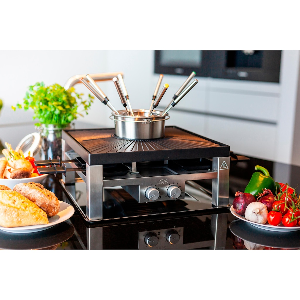 SOLIS OF SWITZERLAND Tischgrill »SOLIS Combi Grill 3 in 1, Fondue, Raclette«
