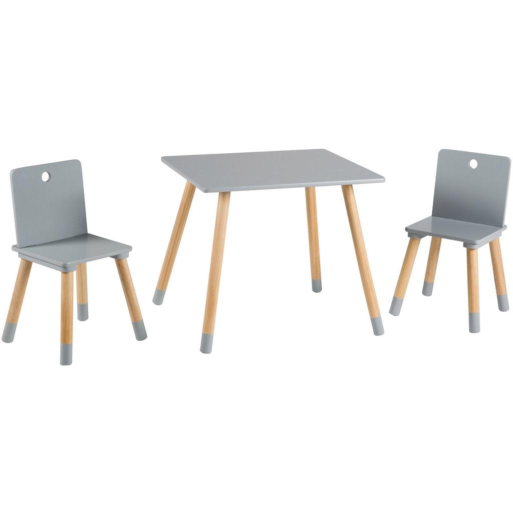 roba® Kindersitzgruppe »Kindersitzgruppe, grau« (3-tlg)