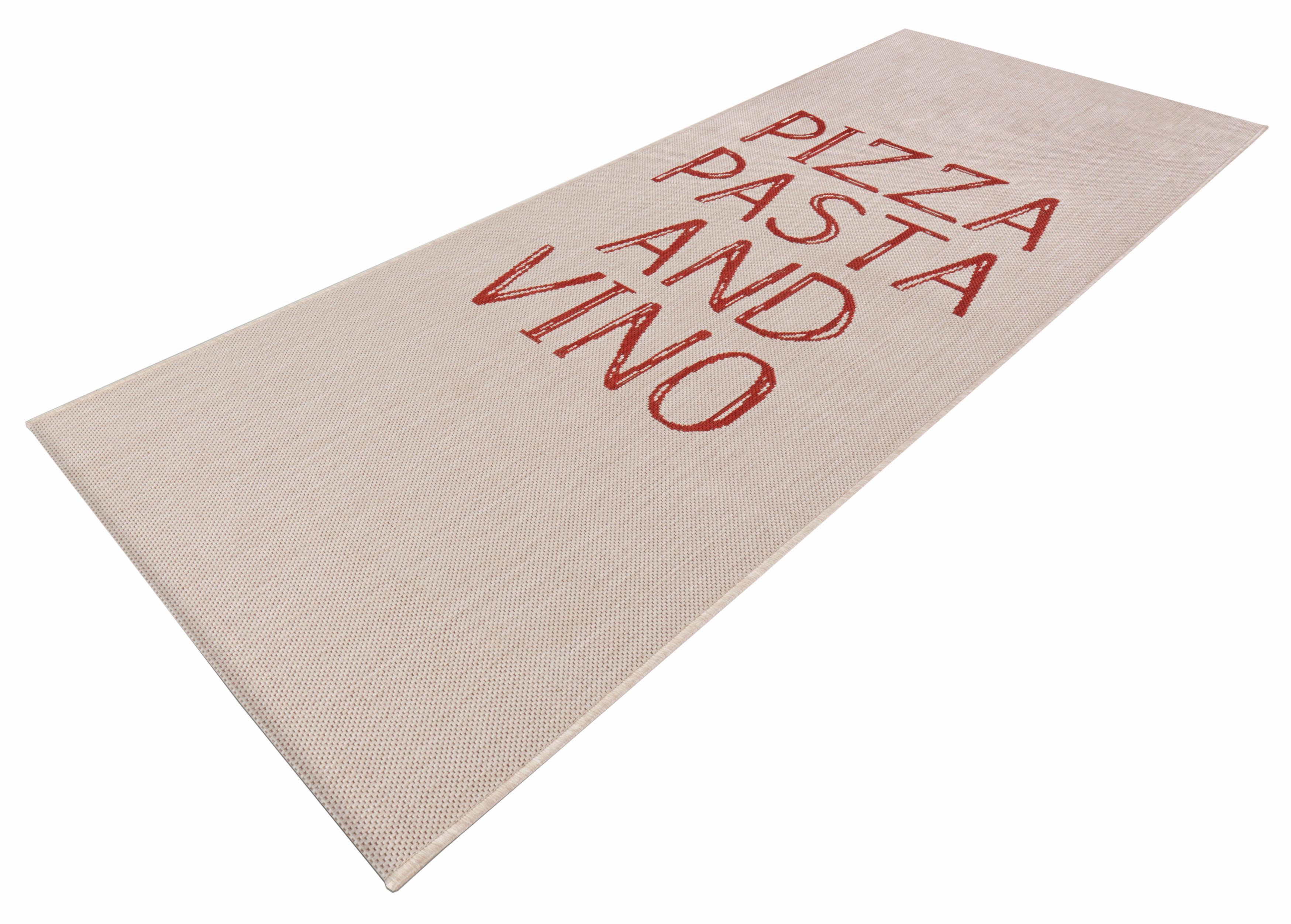 Läufer Pizza Pasta Vino Zala Living rechteckig Höhe 8 mm