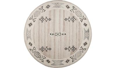 Wollteppich, »Royal Berber«, THEKO, rund, Höhe 18 mm, handgetuftet kaufen