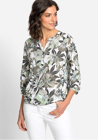 Olsen 3/4-Arm-Shirt, mit exotischem Blumenprint kaufen