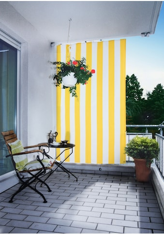 Floracord Senkrechtmarkise, BxH: 140x230 cm, gelb/weiß kaufen