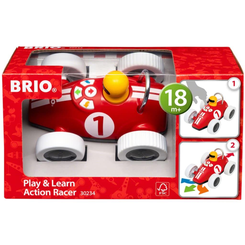BRIO® Spielzeug-Rennwagen »Play & Learn«, mit elektronischer Steuerungsfunktion; FSC®-Holz aus gewissenhaft bewirtschafteten Wäldern