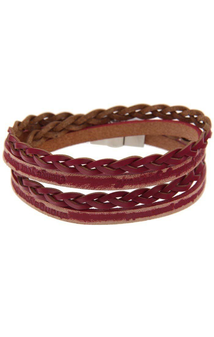 leslii Wickelarmband, mit lässigem Look silberfarben Damen Wickelarmband Lederarmbänder Armbänder Schmuck 4250980312204