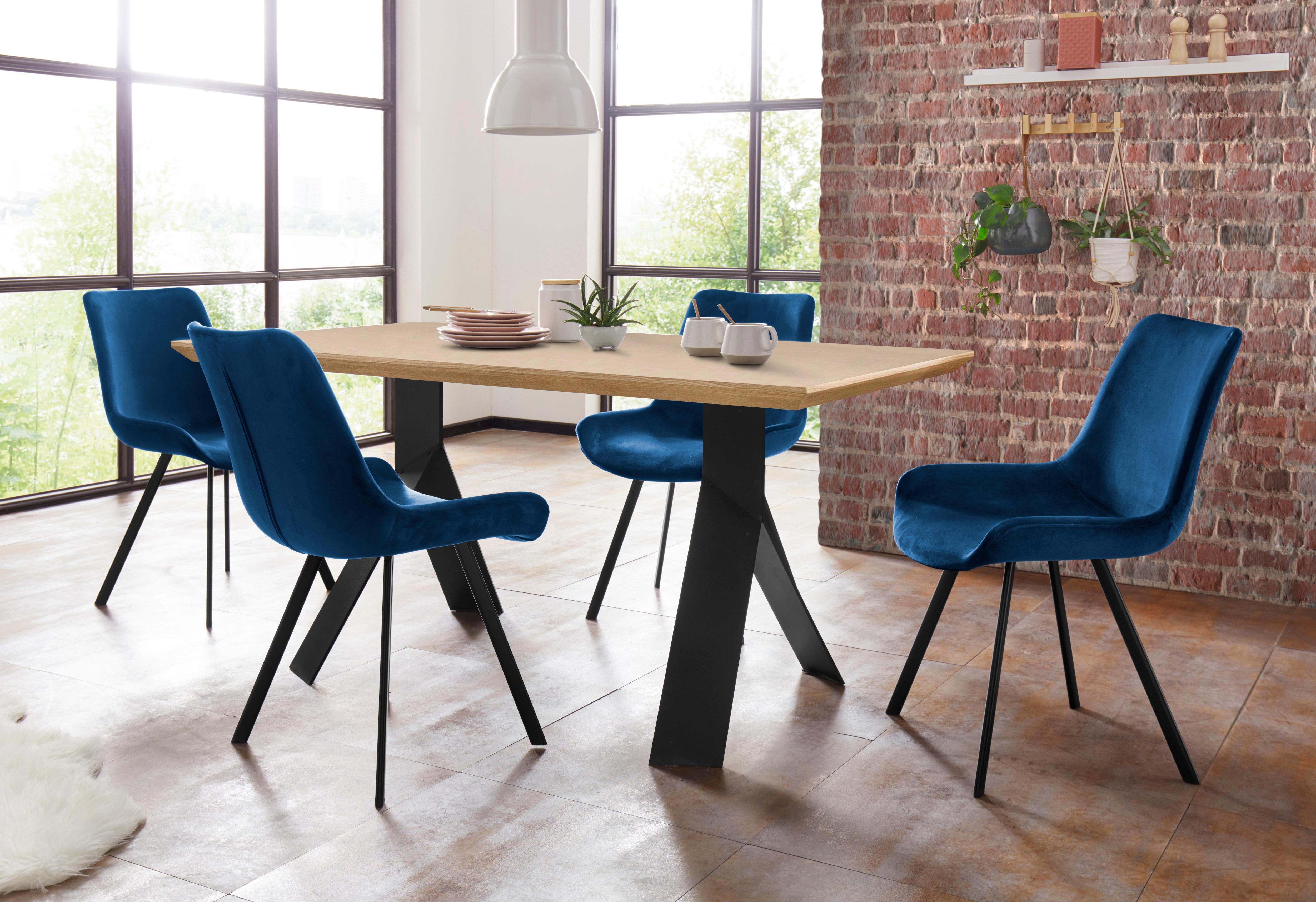 Steinhoff Essgruppe »Rose-Bridge«, Tisch - Breite 160 cm + 4 Stühle