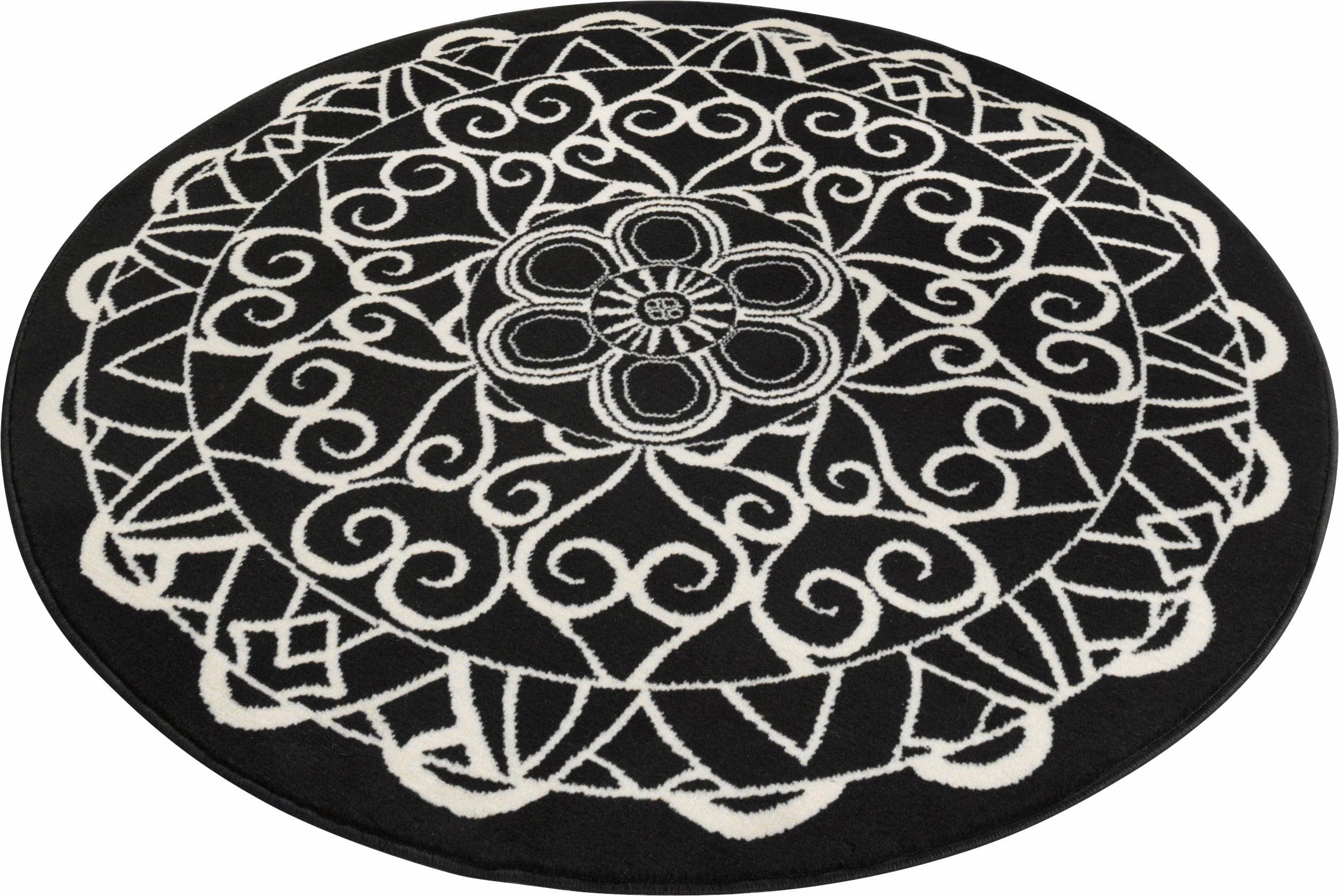 Teppich Mandala 1 Zala Living rund Höhe 9 mm maschinell gewebt