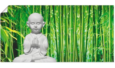 Artland Wandbild »Buddha mit Bambus«, Religion, (1 St.), in vielen Größen &... kaufen