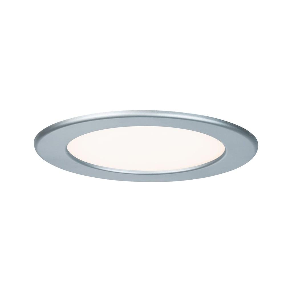 Paulmann LED Einbaustrahler »Quality Set Panel rund 1x12W 2700K Chrom matt«, 1 St., Warmweiß