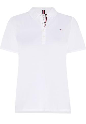 Tommy Hilfiger Curve Poloshirt »TH ESSENTIAL REG POLO SS CURVE«, mit Tommy Hilfiger... kaufen
