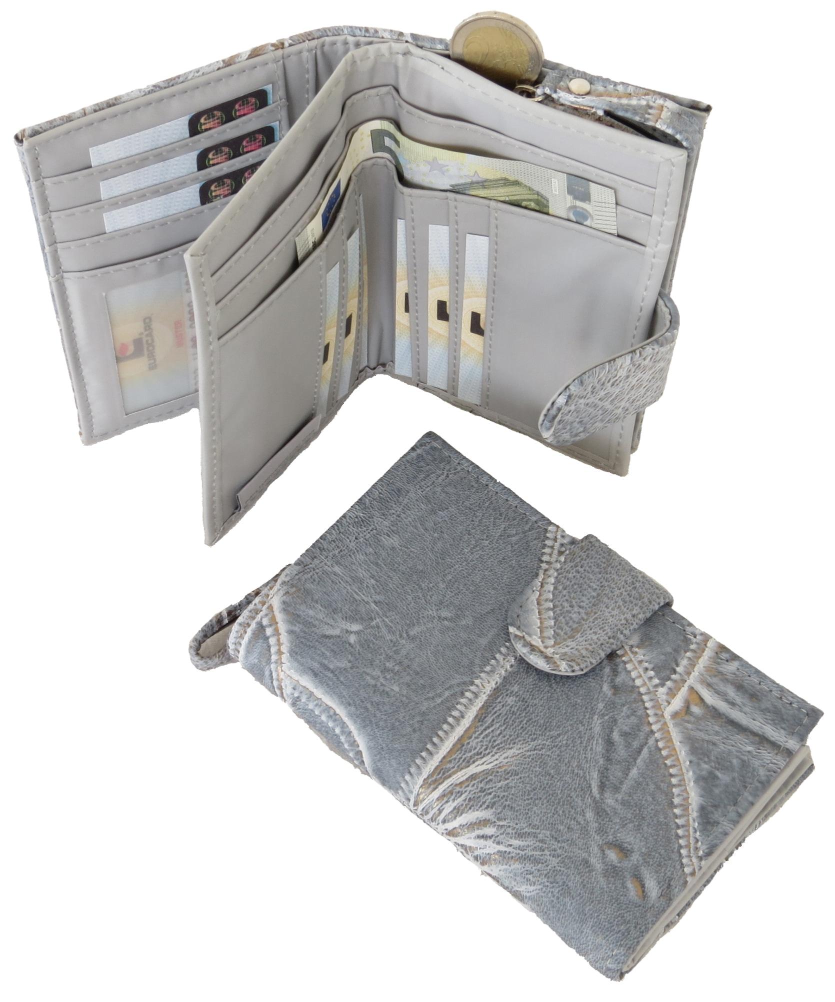 J.Jayz Geldbörse, zeilos mit praktischer Inneneinteilung grau Geldbörsen Taschen Geldbörse Unisex