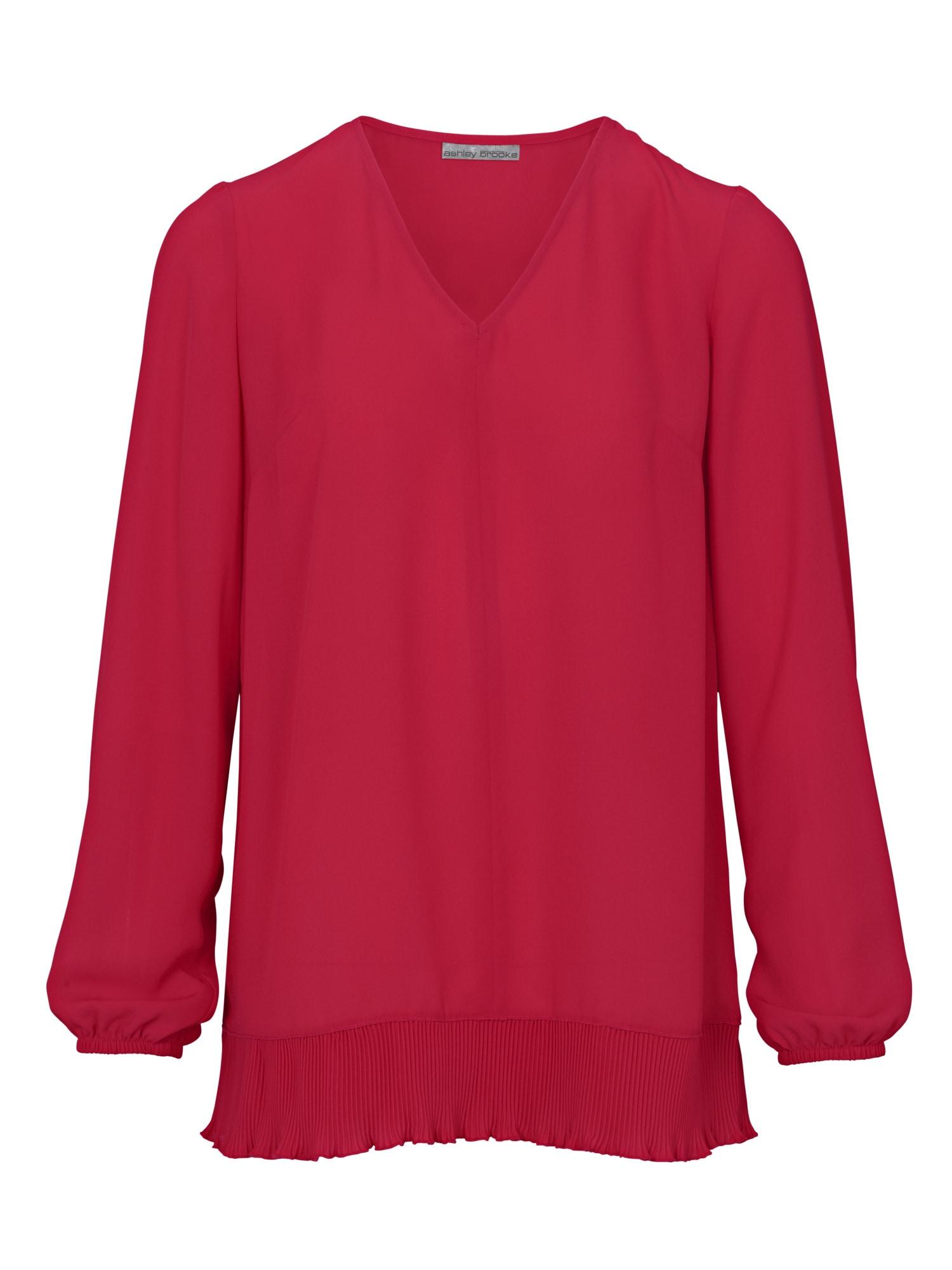 heine TIMELESS Bluse mit Plissee-Besatz