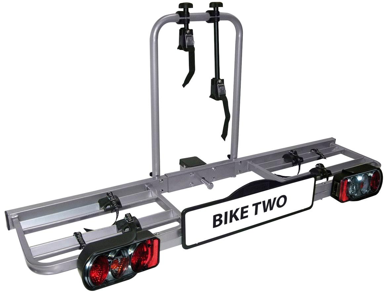 EUFAB Kupplungsfahrradträger Bike Two schwarz Fahrradträger Autozubehör Reifen