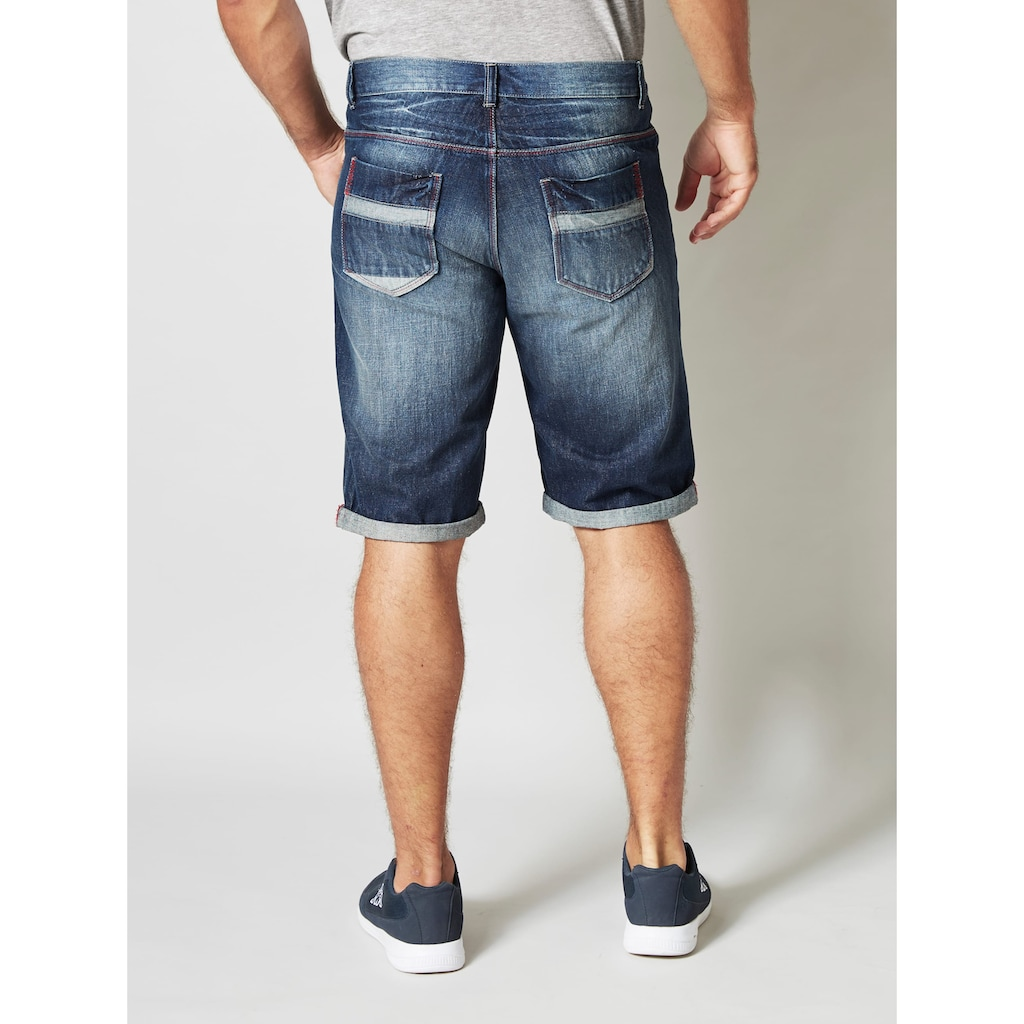 Men Plus Jeans Bermuda in 5-Pocket-Form