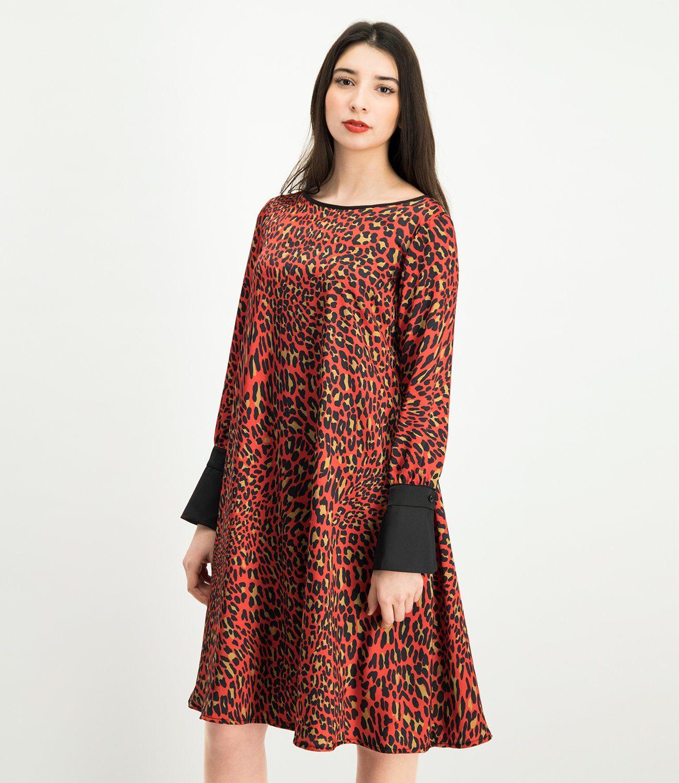 NICOWA Kleid NABITA mit modischem Leopardenprint