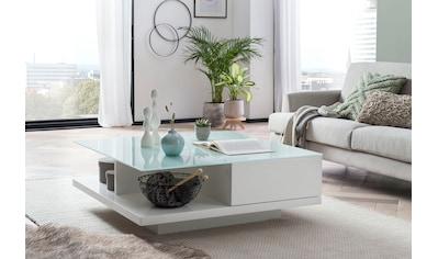 SalesFever Couchtisch, Tischplatte aus gehärtetem Kristallglas kaufen