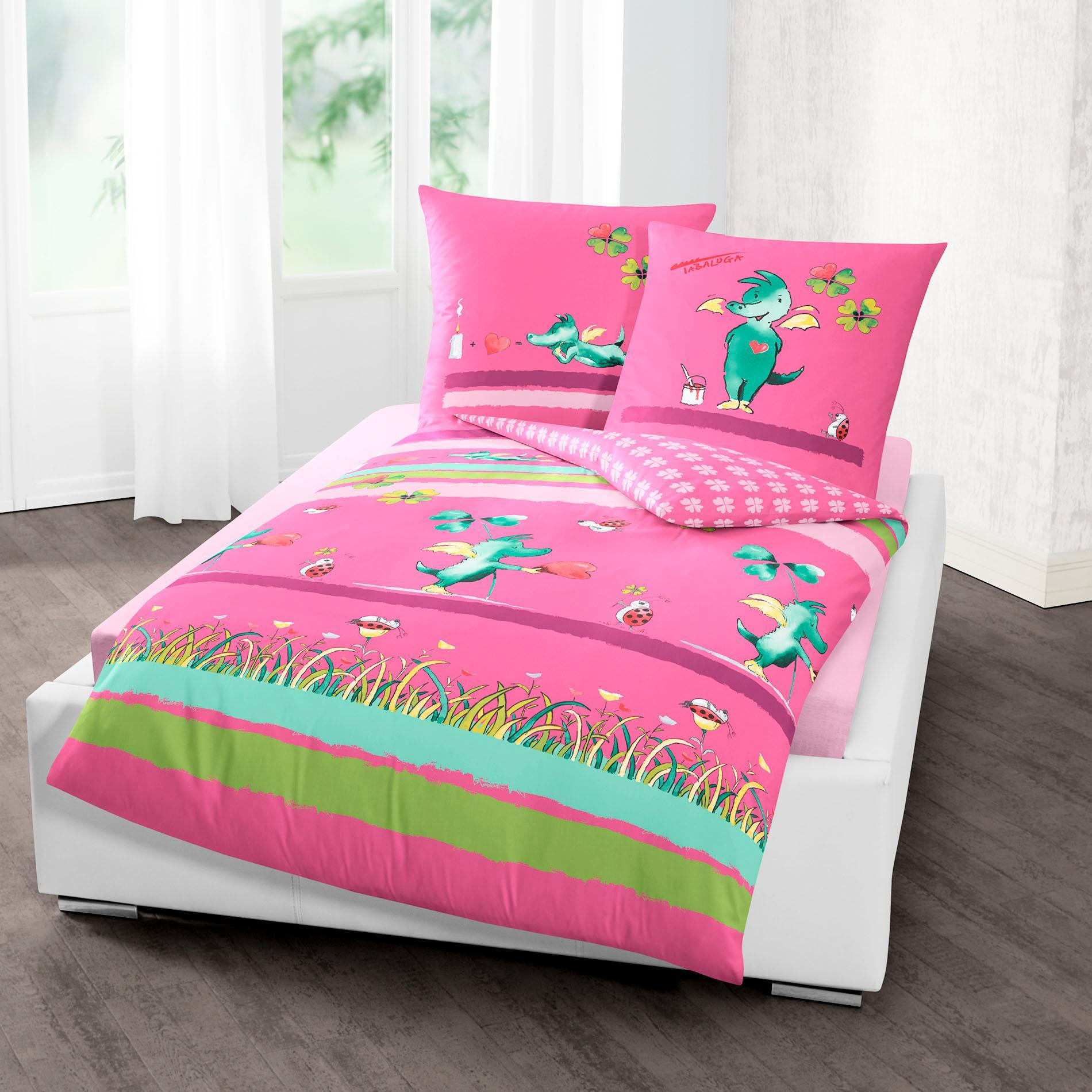 Kinderbettwäsche Kleeblatt TABALUGA Wohnen/Wohntextilien/Bettwäsche, Bettlaken und Betttücher/Bettwäsche nach Größe/Bettwäsche 135x200 cm