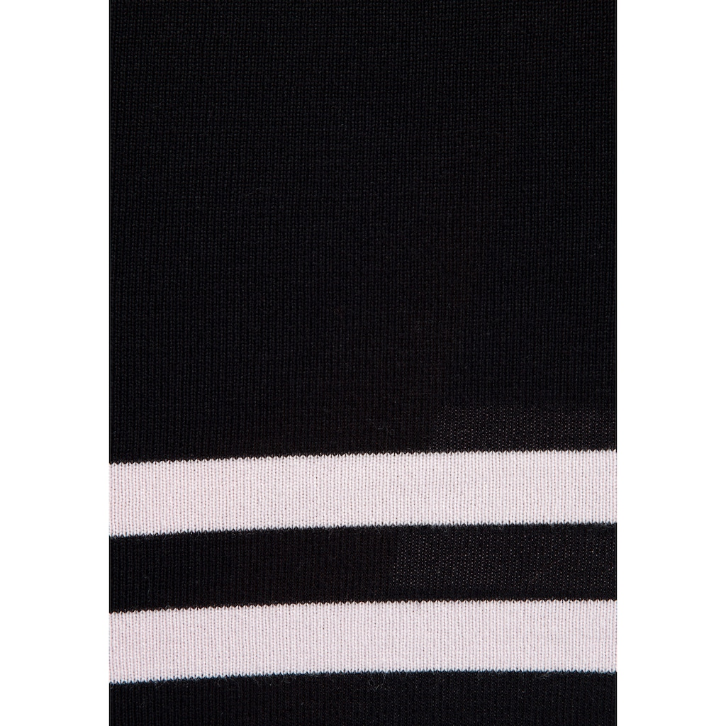 TOM TAILOR Polo Team Strickkleid, im besonderen Streifen Muster