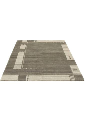 morgenland Wollteppich »Nepal Teppich handgeknüpft grau«, rechteckig, 18 mm Höhe,... kaufen