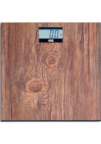ADE Personenwaage »BE2004 Holly«, Badezimmerwaage in Holzoptik aus gehärtetem... kaufen