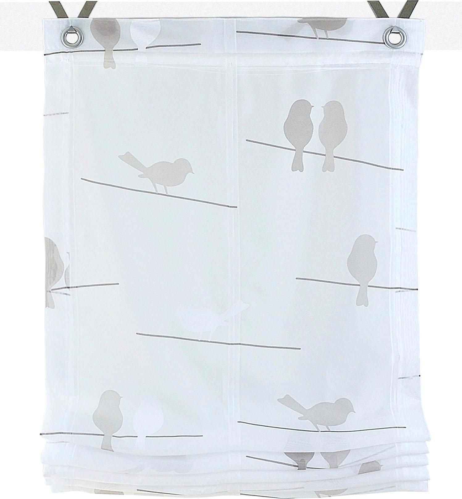 Raffrollo »Birds«, Kutti, mit Hakenaufhängung, ...