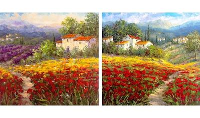 Home affaire Leinwandbild »HULSEY/Blumen I/II« (Set) kaufen