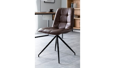 andas Esszimmerstuhl »Caspar«, 2er Set, mit schönen schwarzen Stahlbeinen und bequemen Kunstleder Bezug kaufen