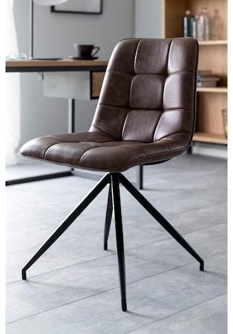 andas Esszimmerstuhl »Caspar«, 2er Set, mit schönen schwarzen Stahlbeinen und bequemen... kaufen