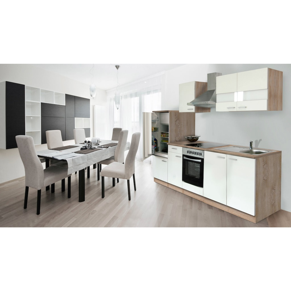 RESPEKTA Küchenzeile »Anna«, mit E-Geräten, Breite 270 cm, mit Glaskeramik-Kochfeld