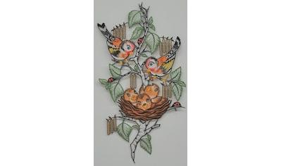 Stickereien Plauen Fensterbild »Vogelnest« kaufen