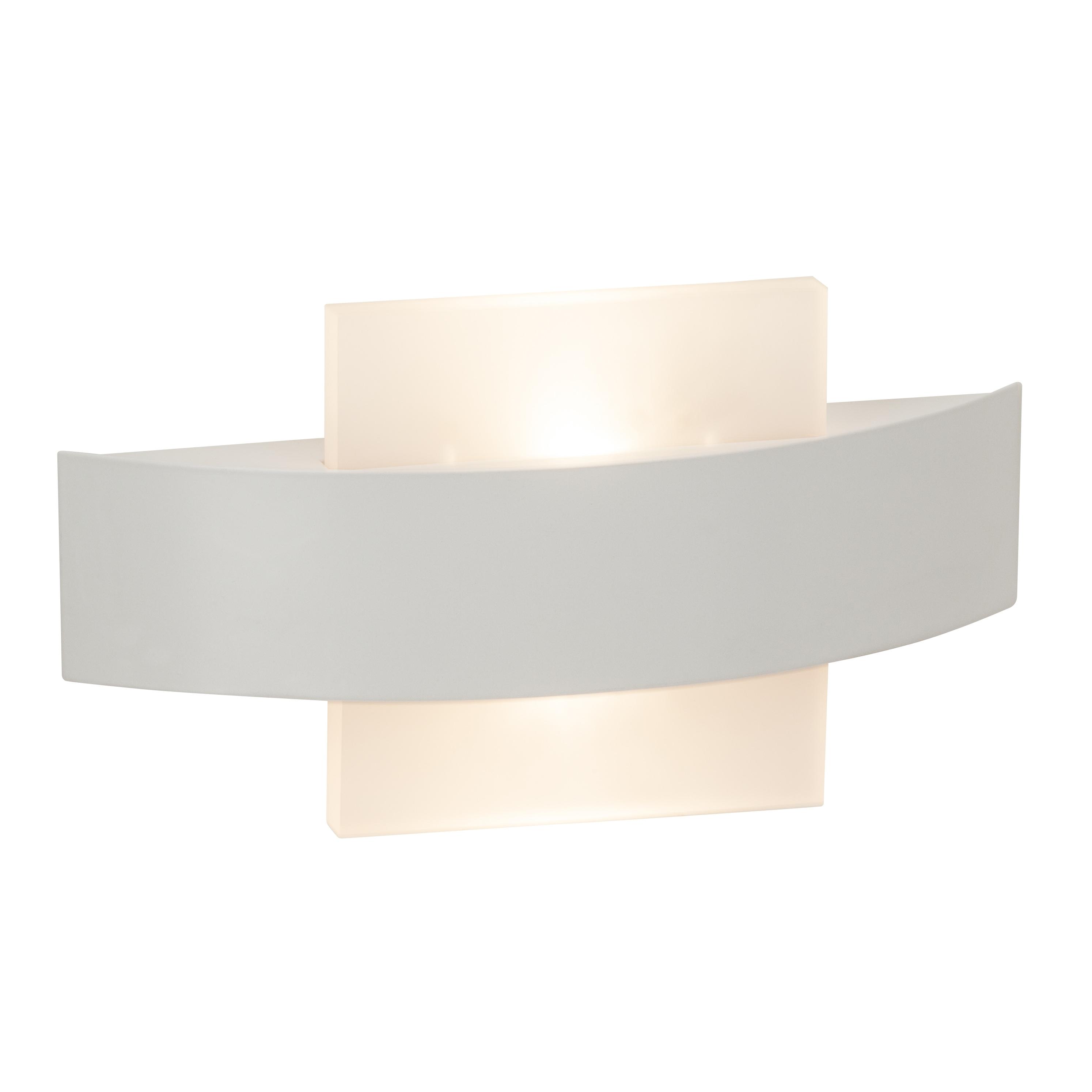 Brilliant Leuchten Solution LED Wandleuchte 26cm quadratisch weiß