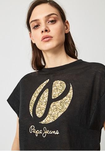 Pepe Jeans Print-Shirt »ALICE«, mit weitem Ärmelausschnitt und großem Frontprint mit... kaufen