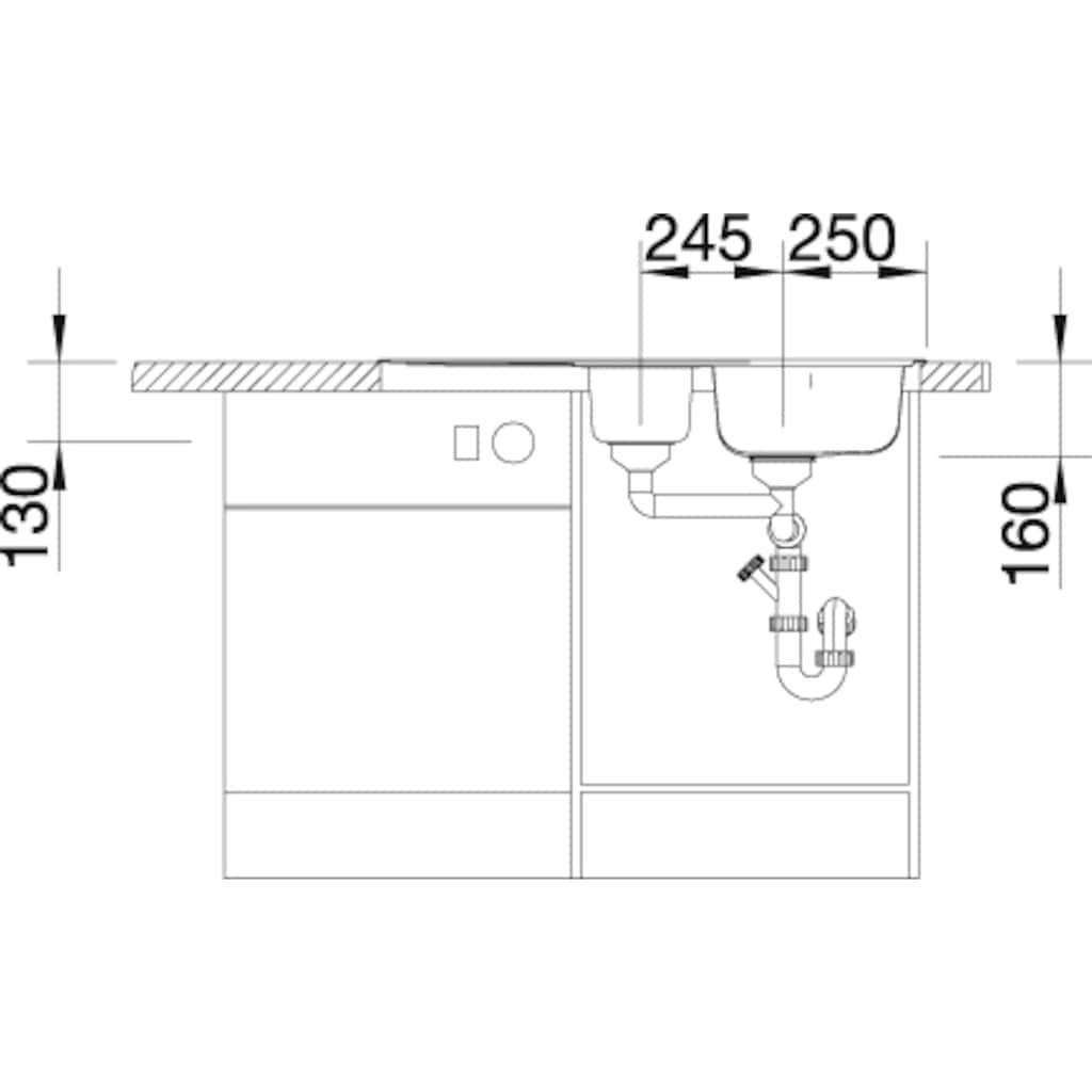 Blanco Küchenspüle »LANTOS 6 S«, inklusive 1 Edelstahleinsatz