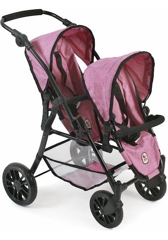 CHIC2000 Puppen-Zwillingsbuggy »Twinny, pink«, mit schwenkbaren Vorderrädern kaufen