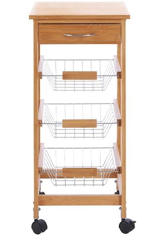 Küchenwagen »Bambus«, 37 x 37 x 76 cm kaufen