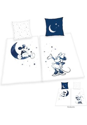 Walt Disney Wendebettwäsche »Mickey und Minnie Mouse«, Partnerbettwäsche kaufen
