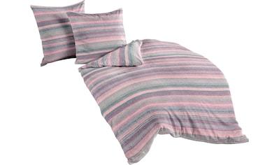 BIERBAUM Bettwäsche »Berry stripes«, mit beerefarbenden Streifen kaufen