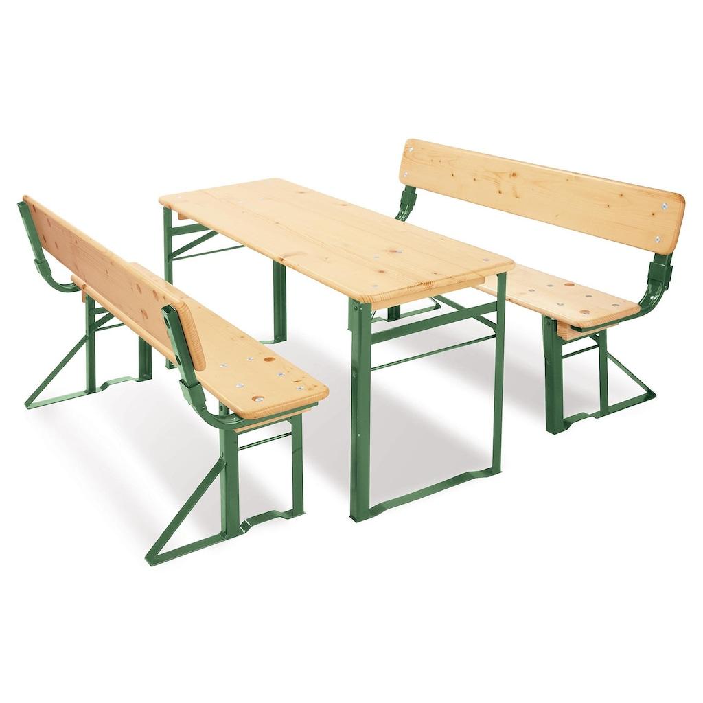 Pinolino® Kindersitzgruppe »Kinderfestzeltgarnitur mit Lehne, Sepp«, (3 tlg.)