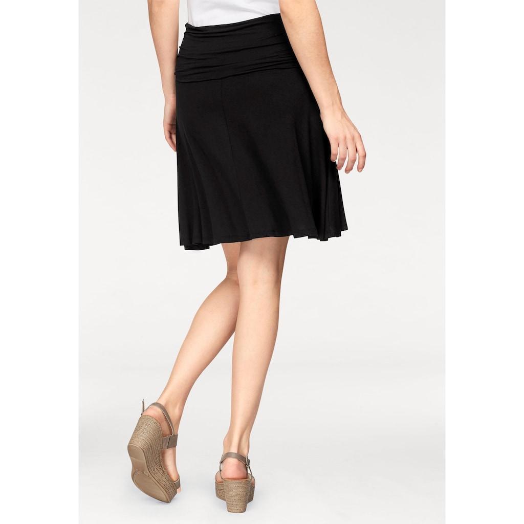 Aniston SELECTED Jerseyrock, mit figurfreundlichem Bund