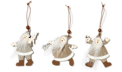 CHRISTMAS GOODS by Inge Dekohänger »Santa«, 3-fach sortiert, Höhe ca. 9 cm kaufen